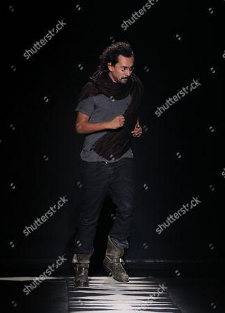 Haider Ackerman on the catwalk