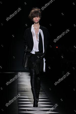 Editorial image of Haider Ackerman show, Autumn Winter 2015, Paris Fashion Week, France - 07 Mar 2015