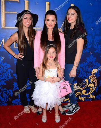 Stock Image of Kyle Richards and daughters Portia, Sophia, Alexia Umansky