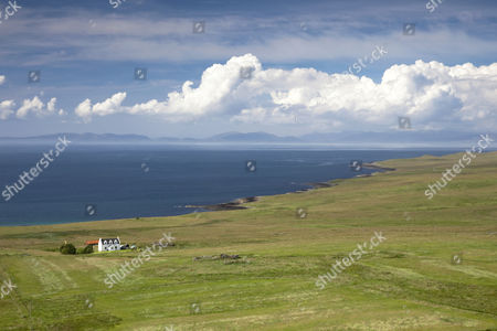 Stock Picture of View from the Isle of Skye in the Hebrides, Highland Council, Scotland, United Kingdom, Europe