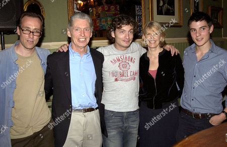 GEORGIE FAME (2ND L) WITH HIS SON (C) AND FRIENDS