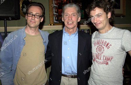 GEORGIE FAME WITH HIS SON (R) AND A MEMBER OF HIS BAND