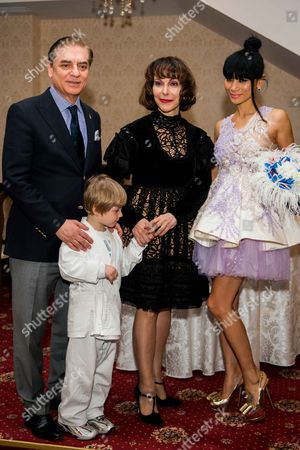 Prince Paul, Princess Lia of Romania and Bai Ling at the official weigh in