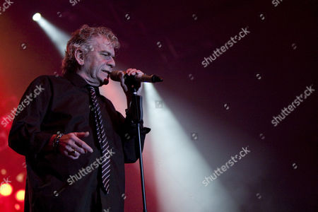 Dan McCafferty, singer and frontman of the Scottish band Nazareth, live at Rock Meets Classic at the civic hall Sursee, Lucerne, Switzerland