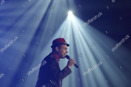 Roger Cicero during his concert in the Koblenz Sports Hall Oberwerth, Koblenz, Rhineland-Palatinate, Germany, Europe
