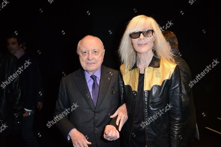 Stock Image of Pierre Berge and Betty Catroux