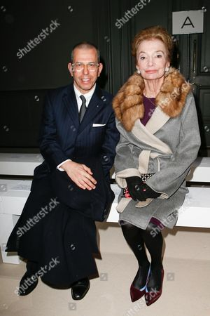 Jonathan Newhouse and Lee Radziwill in the front row