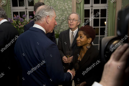 Stock Image of Prince Charles meets Bonnie Greer