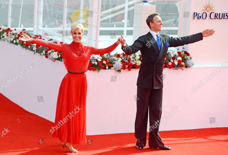 Natalie Lowe and Ian Waite perform at the official naming ceremony of the Britannia