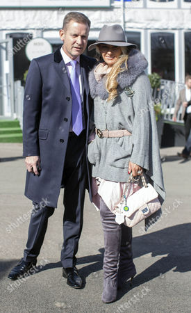 Jeremy Kyle and Carla Kyle at the races.