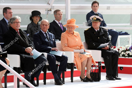 Micky Arison Chaiman and CEO, Carnival Corporation, Prince Philip, Queen Elizabeth II and Captain Paul Brown