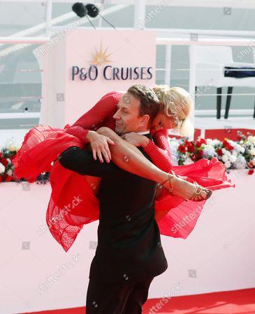 Natalie Lowe and Ian Waite perform