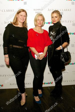 Stock Picture of Sarah Brown, Bec Astley Clarke and Laura Bailey