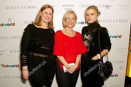 Stock Photo of Sarah Brown, Bec Astley Clarke and Laura Bailey