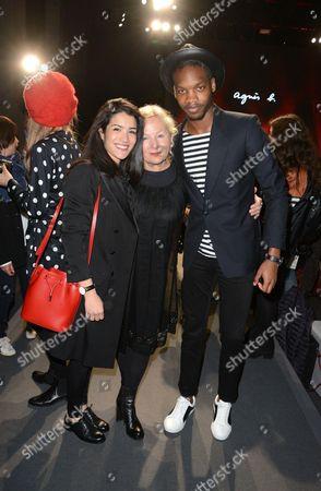 Sabrina Ouazani, Agnes Trouble, designers of Agnes B, and Ahmed Drame