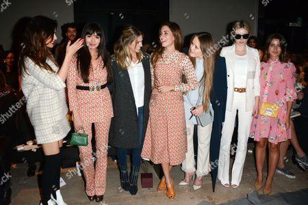 Zara Martin, Helena Bordon, Gala Gonzalez, Caroline Vreeland, Alexandra Pereira and Kristina Bazan