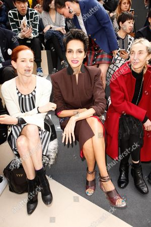 Vanessa Friedman, Farida Khelfa and Franca Sozzani in the front row