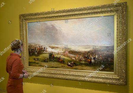 The Battle of Waterloo, 1815 by George Jones, exhibited 1853