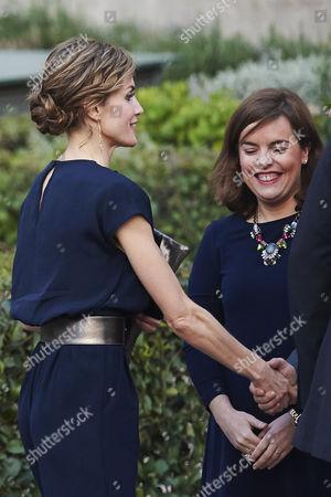 Queen Letizia and Soraya Saenz de Santa Maria