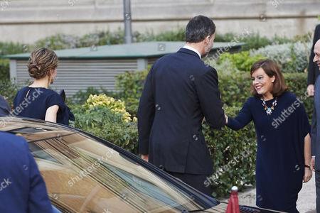 Queen Letizia and King Felipe VI of Spain with Soraya Saenz de Santa Maria