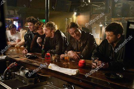 Stock Picture of Thomas Cocquerel, Ryan Kwanten, Jim Sturgess, Frans Van Eeuwen, Sam Worthington