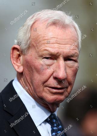 Former footballer Bob Wilson in the parade ring