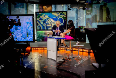 London Mayor Boris Johnson is interviewed by Betty Liu on the In The Loop Show on Bloomberg Tv in New York  on Day 4 of his US tour