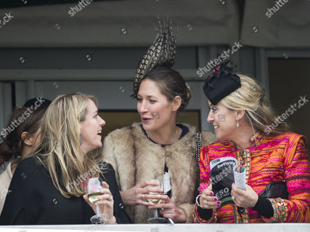 Left -Laura Lopes (daughter of Duchess of Cornwall) and Right - Chanelle McCoy (wife of A P. MCoy)