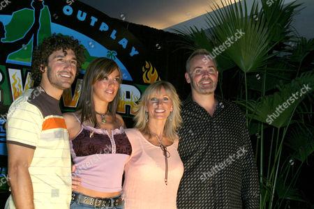 Ethan Zohn, Jenna Morasca, Tina Wesson and Richard Hatch