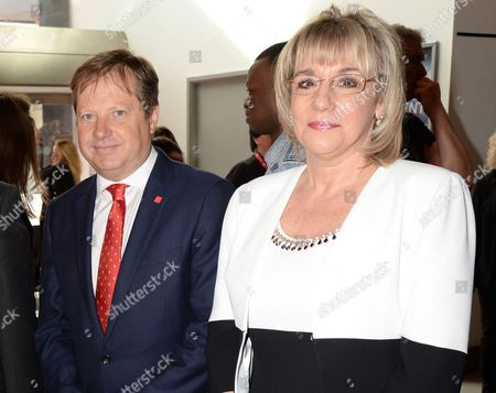Stock Picture of Sir Charles Dunstone and chief executive of The Prince's Trust Martina Milburn
