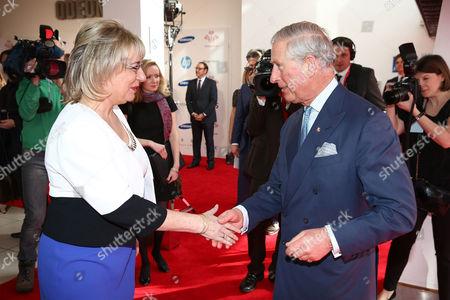 Martina Milburn and Prince Charles