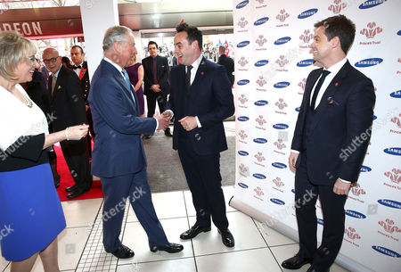 Stock Picture of Prince Charles, Anthony McPartlin and Declan Donnelly
