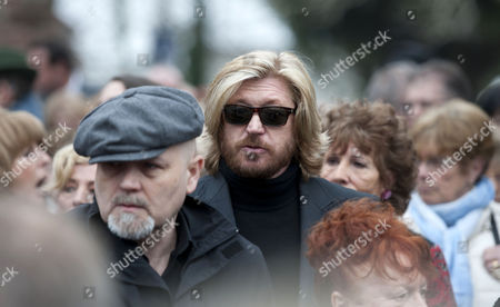 Nicky Clarke attending the funeral