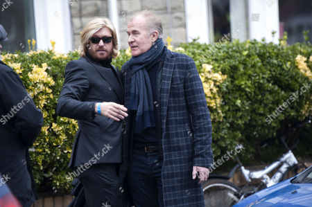 Nicky Clarke embracing ABC singer Martin Fry