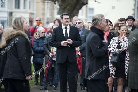 Spandau Ballet singer Tony Hadley attending the funeral