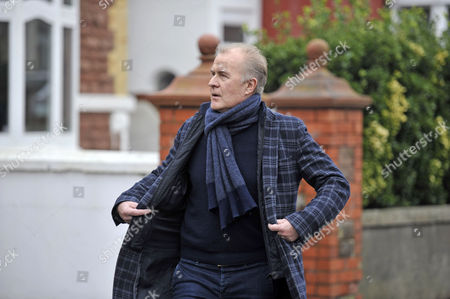 Martin Fry of ABC arriving at the funeral