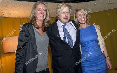 Boris Johnson, Justine Roberts and Carrie Langton