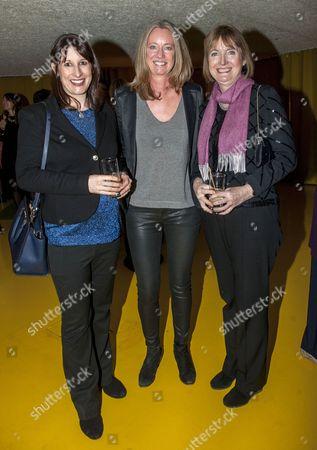 Rachel Reeves, Justine Roberts, founder of Mumsnet, and Harriet Harman