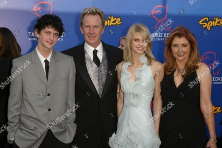 Morgan Brittany, Husband Jack Gill , Son Cody and Daughter Katie