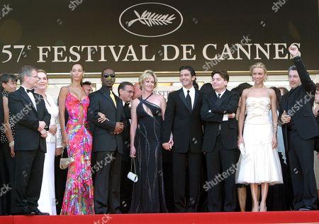 Julie Andrews, Nicole Murphy, Eddie Murphy, Melanie Griffith, Antonio Banderas, Mike Meyers, Cameron Diaz and Alain Chabat