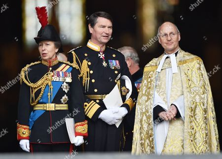 Princess Anne and Tim Laurence with The Very Reverend David Ison