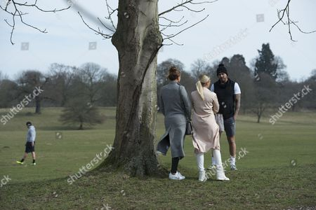Stock Photo of Ferne McCann ventures out to South Weald Park with Billie Faiers after her split with Charlie-Sims