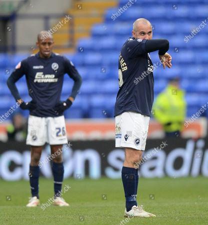 Millwall's Gary Taylor-Fletcher looks dejected