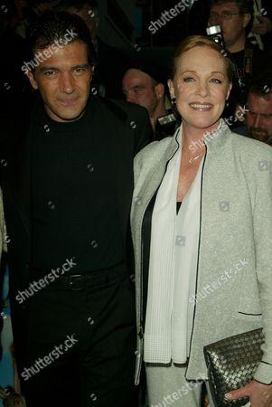Antonio Banderas and Julie Andrews