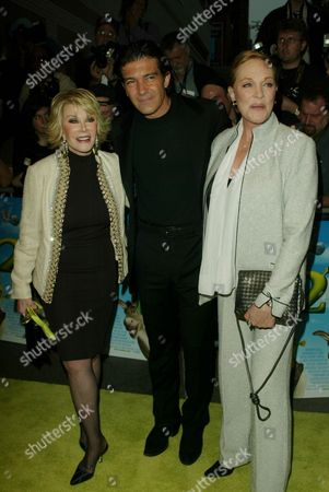 Joan Rivers, Antonio Banderas and Julie Andrews
