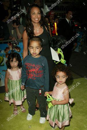 Joumana Kidd and children