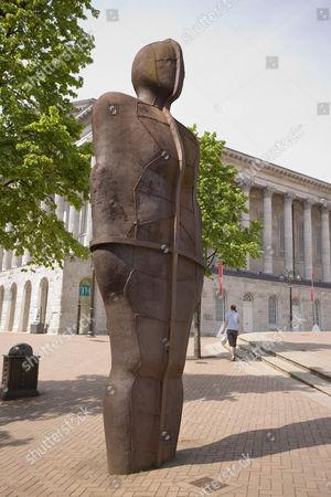Iron Man statue by Antony Gormley, Victoria Square, Birmingham, England, United Kingdom, Europe