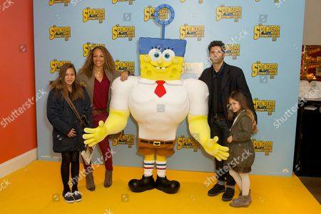 Angela Griffin, Jason Milligan, Tallulah and Melissa