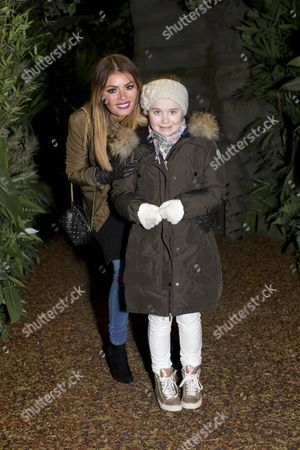 Stock Image of Chloe Sims and daughter Madison Sims