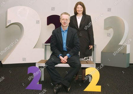ROLY KEATING WITH JANA BENNETT, DIRECTOR OF BBC TELEVISION